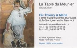 Table meunier